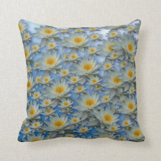 Almohada azul de los lirios