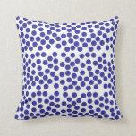 Almohada azul de los puntos, amortiguador