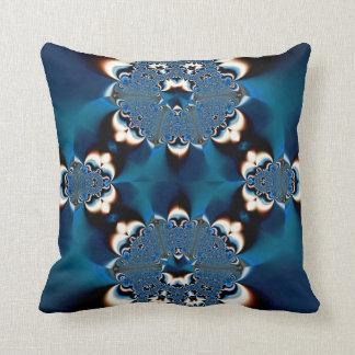 Almohada azul de MoJo del americano del cordón del