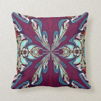 Almohada azul de MoJo del americano del fractal de