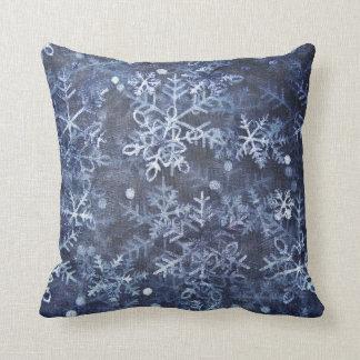 almohada azul de MoJo del americano del navidad
