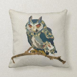 Almohada azul de Mojo del búho