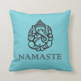 Almohada azul de Namaste Ganesh