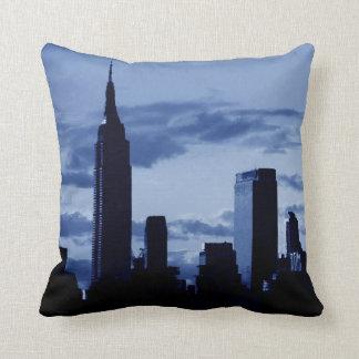 Almohada azul de New York City del arte pop