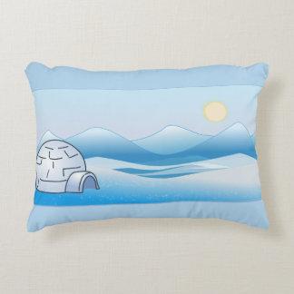 Almohada azul del acento del iglú ártico cojín decorativo