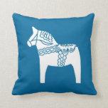 Almohada azul del caballo de Dala