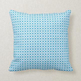 Almohada azul del diamante