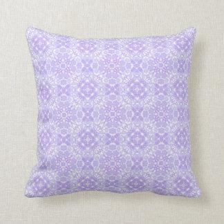 Almohada azul del diseño geométrico del Victorian