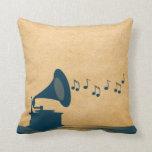Almohada azul del gramófono del vintage