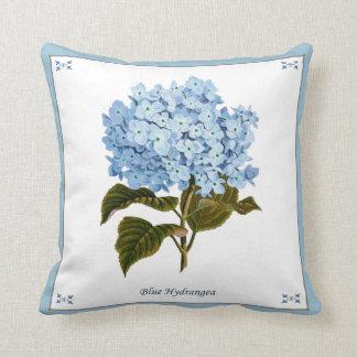 Almohada azul del Hydrangea del vintage Cojín Decorativo