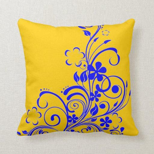 Almohada azul del remolino