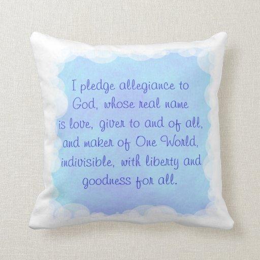 Almohada azul del rezo, un mundo