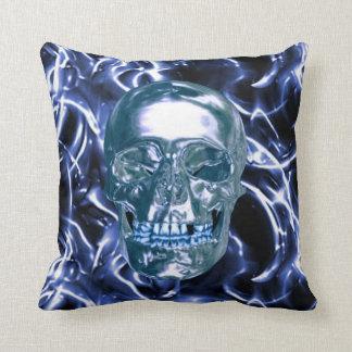 Almohada azul eléctrica del reversible del cráneo