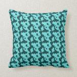 Almohada azul enrrollada de la impresión de la vac