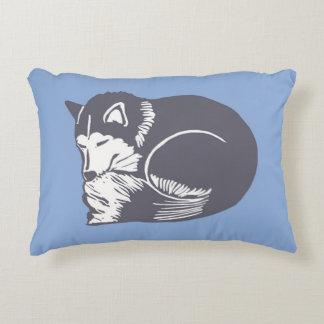 Almohada azul fornida del acento el dormir cojín decorativo