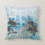 almohada azul fresca