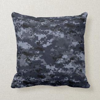 Almohada azul militar del camuflaje de Estados