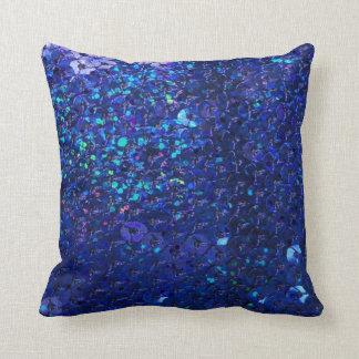 Almohada azul rica profunda de Mojo de la lentejue