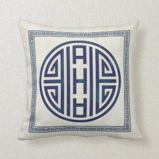 Almohada azul y blanca coreana