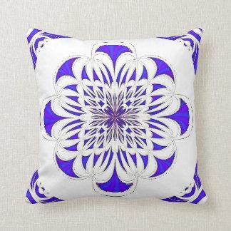 Almohada azul y blanca de MoJo del americano del d