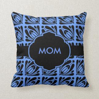 Almohada azul y negra de Monogrammable