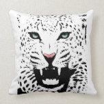 Almohada blanca del leopardo