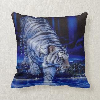 Almohada blanca del tigre cojín decorativo