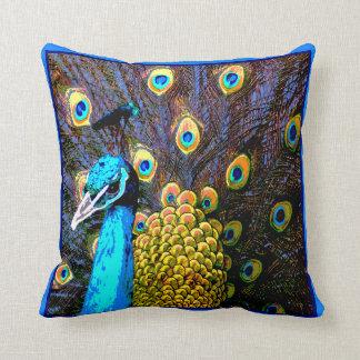 Almohada bonita del arte del pavo real cojín decorativo
