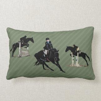 Almohada bonita del trío del cazador/del caballo cojín lumbar