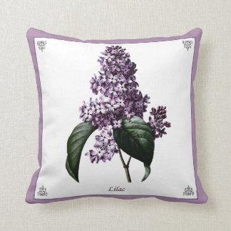 Almohada botánica de la lila del vintage