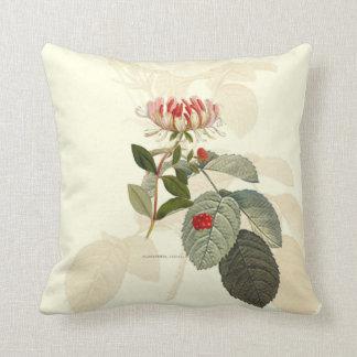 Almohada botánica de la madreselva cojín decorativo