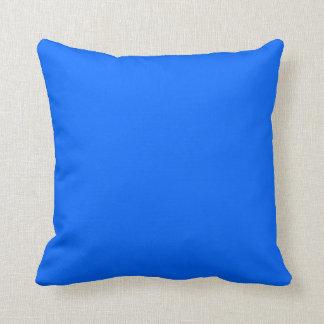 almohada brillante del azul de cielo