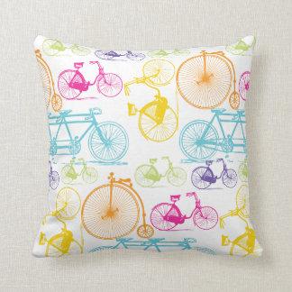 Almohada brillante del neón del color de la bicicl