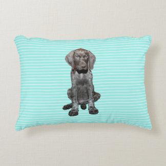 Almohada brillante del perro del grisáceo del cojín