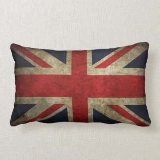 Almohada británica BRITÁNICA descolorada vieja de