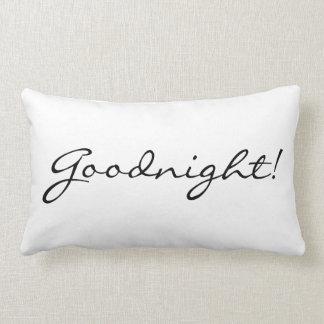 """Almohada """"buenas noches/de la buena mañana"""""""