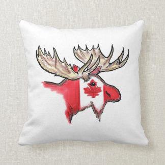 Almohada canadiense del diseño de la bandera de