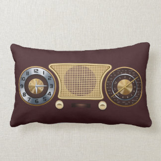 Almohada casera del receptor de radio del vintage