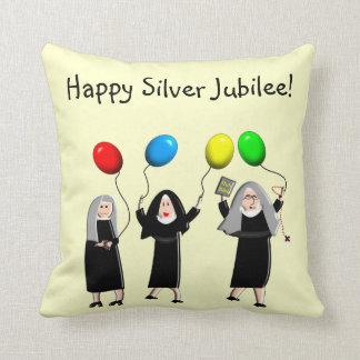 Almohada católica del jubileo de plata de las monj