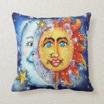 Almohada celestial de Sun y de la luna