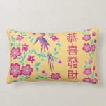 Almohada china 2 del Año Nuevo del batik floral de