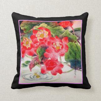 Almohada china del diseño floral