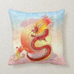 Almohada china del dragón