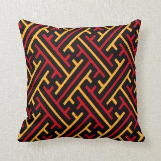 Almohada china geométrica del diseño gráfico del m