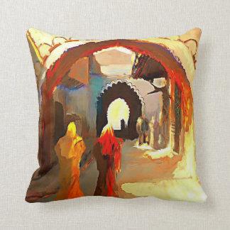 Almohada clásica árabe de la pintura