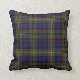 Almohada clásica de la tela escocesa de tartán de