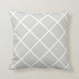 Almohada clásica del enrejado en resistido/blanco