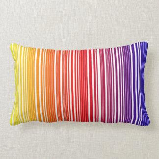 "Almohada ""código de barras del arco iris """