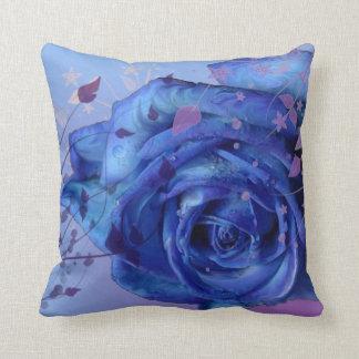 Almohada color de rosa azul de Mojo del americano