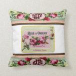 almohada color de rosa francesa antigua del amorti
